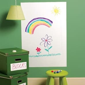 Whiteboard Decor Vinyl Dry Erase Self Adhesive Wall Sticker