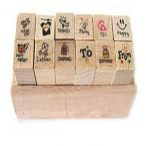 Mini Diary Wood Stamps ~ Travel