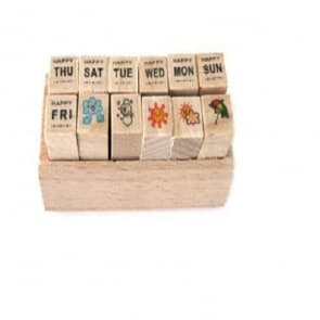 Mini Diary Wood Stamps ~ Date