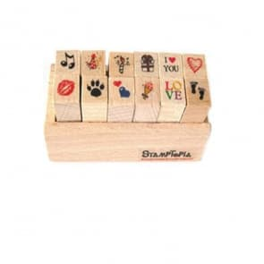 Mini Diary Wood Stamps ~ Love