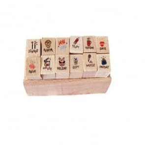 Mini Diary Wood Stamps ~ Special