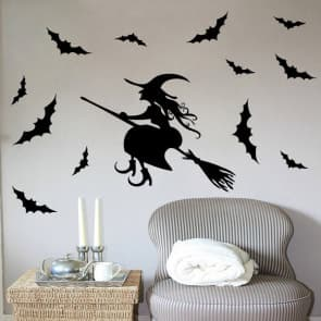 Witch & Bats Halloween Wall & Window Stickers Party Decorations