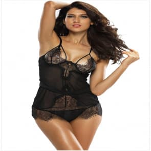 Betty Sexy See Through Lace Babydoll ~ Regular & Plus Size