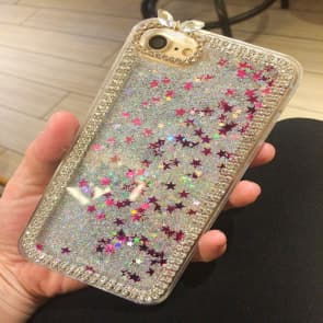 iPhone 6/6S Case, Liquid Floating Luxury Bling Glitter Sparkle with Rhinestone