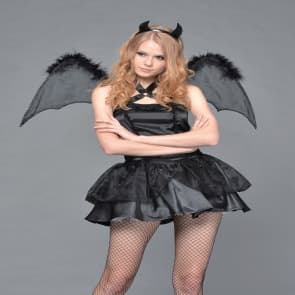 Devil Angel Cosplay Costume Dress For Adults Halloween Costume