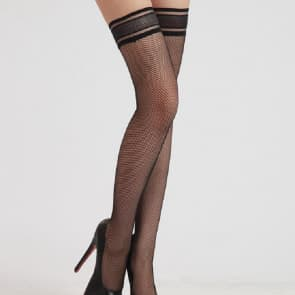 Clarice Mesh Lace Top Knee Socks Stockings