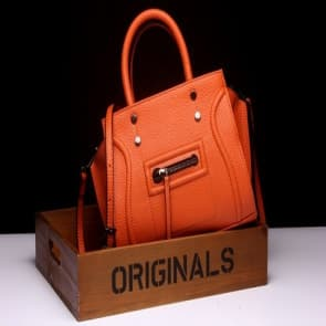 Classic Shoulder Daily Bag ~ Orange
