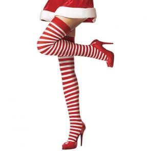 Lea Striped Pattern Top Knee Socks Stockings