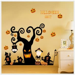 Halloween Scary Tree Wall & Windows Stickers Party Decorations