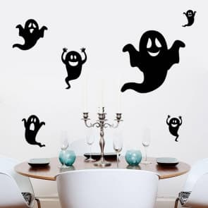 Happy Halloween Ghost Wall & Window Stickers Party Decorations