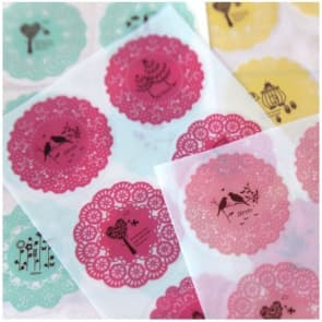 Lacey Round Stickers