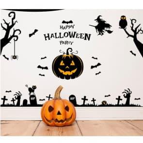 Halloween Pumpkin Wall & Window Stickers Party Decorations